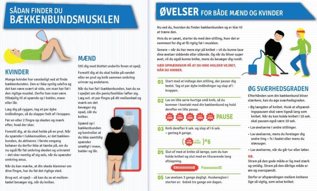 Bækkenbundstræning - Gratis illustrationer